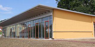 Außenansicht des neuen Kindergarten-Gebäudes in Wörth a.d. Donau